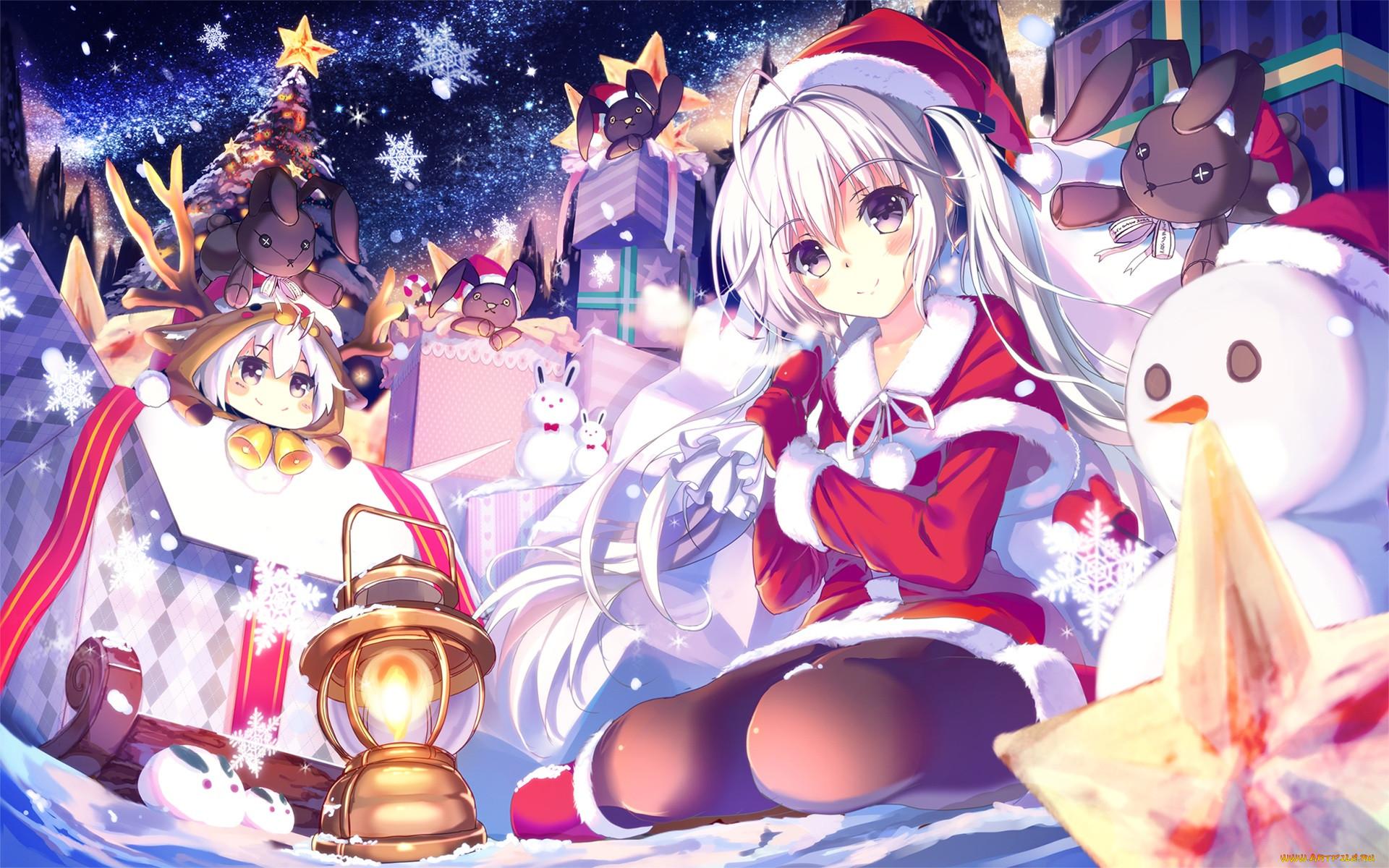Картинки новогодний аниме
